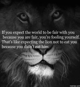 The world isn't fair