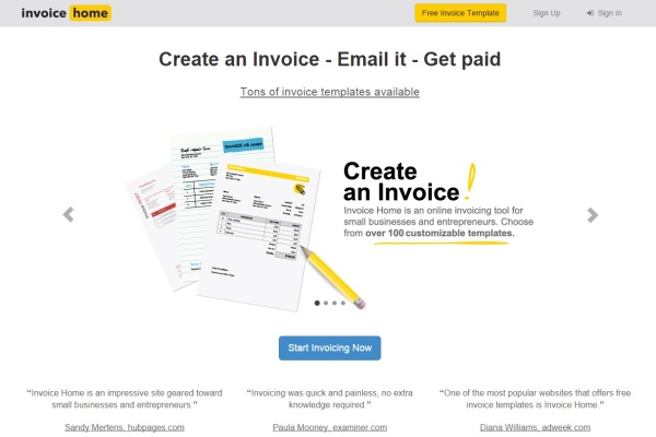 Invoice Home - Free Invoice Template